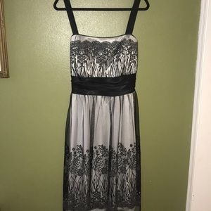 Black/Silver Cocktail/Homecoming Dress Size 18
